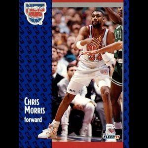 1991-92 Fleer Basketball #133 Chris Morris mint